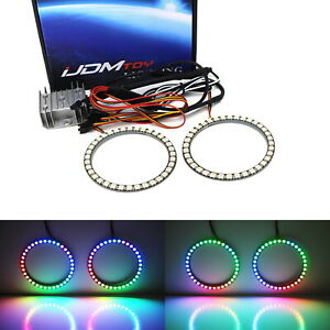 80mm Rgbw Color Shifting Flashing Led Angel Eye Halo Ring Lighting Kit W remote
