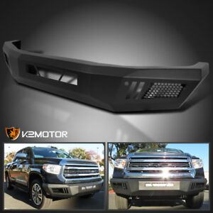 Fits 2014 2020 Toyota Tundra Pickup Front Bumper Black Steel Guard Replacement
