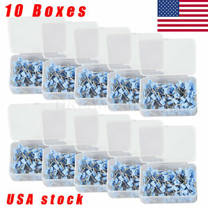 10boxes Dental Prophy Cup Rubber Polish Brush Polishing Tooth Latch Firm Blue Us
