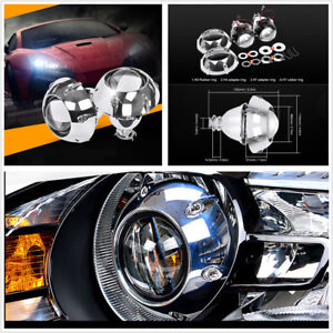 2pcs 3 Bi Xenon Hid Projector Lens With Shrouds H4 H7 Motorcycle Car Headlight