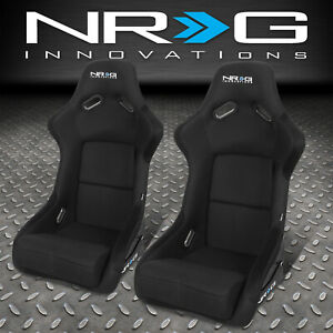 Pair Nrg Bucket Racing Seat Seats Fiber Glass Steel Left Right