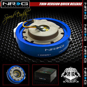 Universal Nrg Steering Wheel 6 Hole Thin Version Quick Release Adaptor Kit Blue
