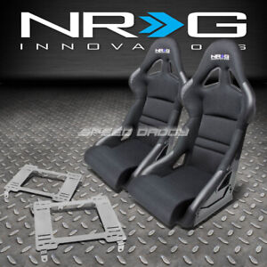 Nrg Deep Bucket Racing Seats Cushion Stainless Steel Bracket For 94 05 Neon R T