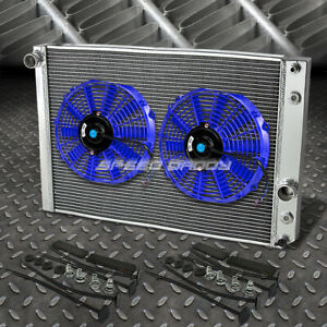 3 row Aluminum Radiator 2x 9 Fan Blue For 91 96 Corvette 5 7l L98 lt1 Zr 1 V8
