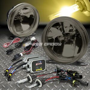 Smoke Lens Universal Bumper Driving Fog Light Lamp wiring switch 3000k Hid Kit