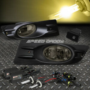Smoked Lens Driving Fog Light Lamp Switch 3000k Slim Hid For 06 07 Accord Uc1
