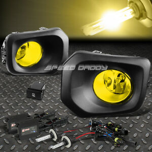 Yellow Lens Driving Fog Light Lamp Switch 3000k Slim Hid For 16 Toyota Tacoma