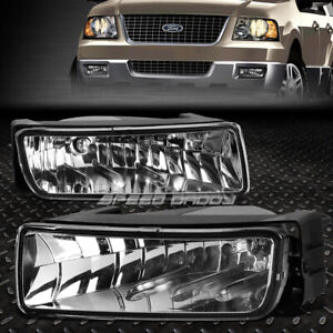 For 03 06 Ford Expedition U222 Suv Crystal Lens Oe Bumper Driving Fog Light Lamp
