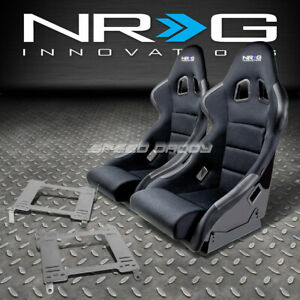 Nrg Type R Deep Bucket Racing Seat Stainless Steel Bracket For 350z Z33 Fairlady