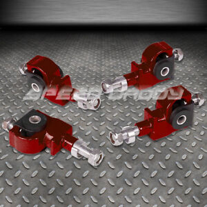 Adjustable Front Camber Adjuster Kit 90 97 Honda Accord civic 92 96 Prelude Red