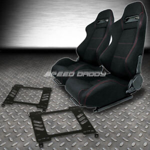 Type R Red Stitches Sports Racing Seats Bracket For 94 01 Acura Integra Db Dc1 2