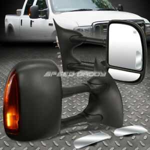 Power Heated Signal Towing Side safe View Blind Spot Mirror For 99 07 Superduty