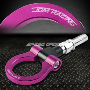 For 09 13 Honda Fit 7 M18 X 2 5 T 6061 Aluminum Purple Front Rear Tow Hook Ring