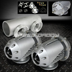 Universal Billet Anodized Type 2 Sqv Blow Off Valve Bov 2 5 Flange Pipe Silver