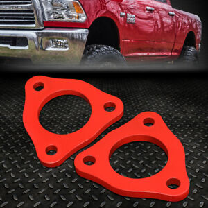 For 2006 2017 Dodge Ram 1500 1 2 Front Top Mount Leveling Lift Kit Spacers Red