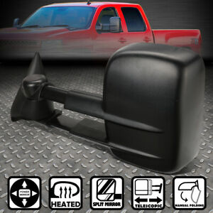 For 99 02 Silverado Sierra Left Side Powered Adjustment Heated Tow Towing Mirror