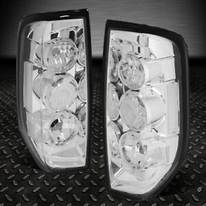 For 05 14 Nissan Frontier Pair Chrome Housing Tail Light Brake Parking Lamps