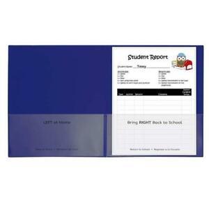 C line Products Cli32005 25ct Classroom Connector Folders Blue