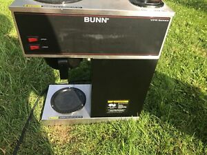 Bunn Commercial Coffee Maker Vpr Series Stainless Steel Made Usa