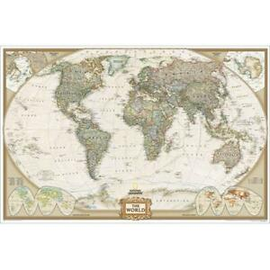 National Geographic Re00622087 World Executive Laminated Map