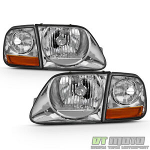 1997 2003 Ford F150 Expedition Lightning Style Headlights W Corner Signal Lights