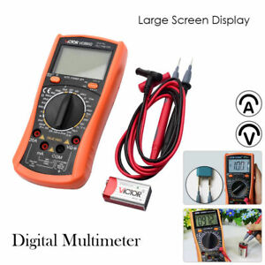 Victor Digital Multimeter Multi Tester Voltmeter Ammeter Ohmmeter With Lcd Light