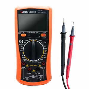 Victor Lcd Digital Multimeter Voltmeter Ammeter Ac Dc Ohm Current Circuit Tester