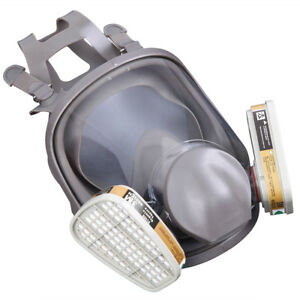 Full Face 15 In 1 Respirator Facepiece Gas Mask 3m 6800 For Painting Spraying