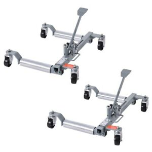 Set Of 2 1250 Lb Capacity Vehicle Positioning Car 10 Wheel Dolly Moving Tire