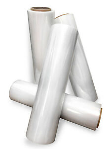 18 Stretch Film Wrap 1200 Feet 500 Stretch Heavy Duty Clear Cling 4 Rolls