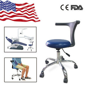 Usa Dental Adjustable Mobile Doctor s Assistant Stools Chair Pu Sapphire Blue B6