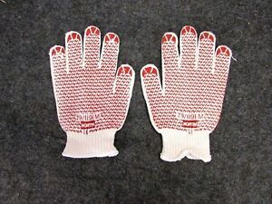 New Lot Of 12 Pair North Safety Knit Grip n Dot Gloves 79 1191s