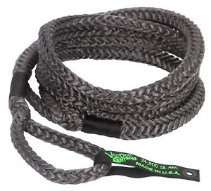 Voodoo Recovery Rope Kinetic 3 4 X 20 24 500 Rated Free Bag Black 13000021