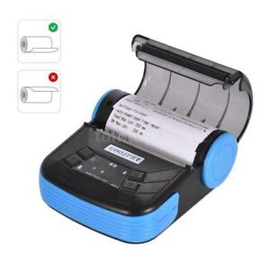 Mini Wireless 80mm Portable Bt Thermal Printer Receipt F android Ios Mobile P4z1