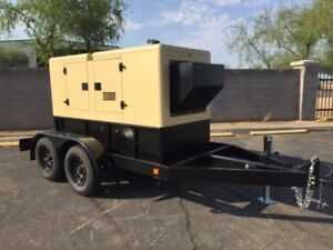 New 40kw Enclosed Mobile Diesel Generator On Trailer Ready To Ship Now