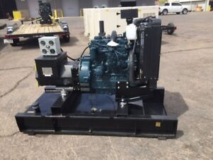 New 40kw Mobile Generator On Fuel Tank Skid Base Ready To Ship
