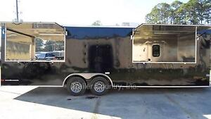 New 8 5x26 8 5 X 26 Enclosed Concession Food Vending Bbq Trailer W Porch Deck