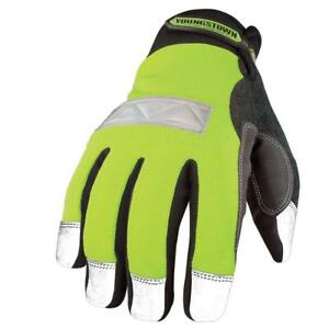 Youngstown Glove 08 3710 10 m Safety Lime Waterproof Winter Medium
