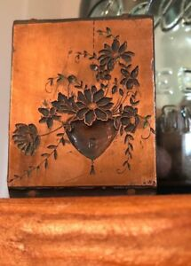 Vintage Letterpress Printer s Block Hardware Advertising Rare Heart Key