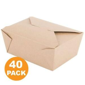 112 Oz 8 X 5 5 X 3 5 Disposable Paper Take Out Food Containers