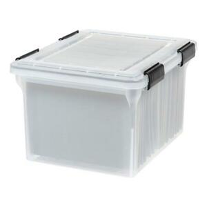 Iris Letter And Legal Size Weathertight File Box Clear