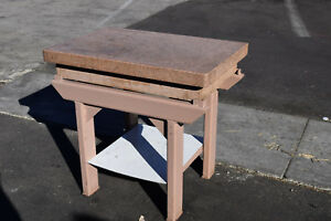 Herman Stone Granite Machinist Inspection Surface Plate 36 x24 x6 Pink Stand