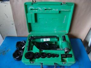 Greenlee 7310 Hydraulic Knockout Punch And Die Set 1 2 To 4 1
