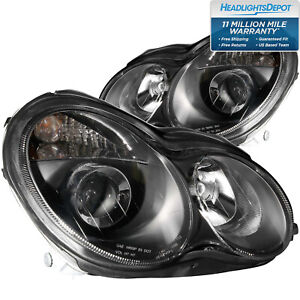 Headlights Set Left Driver Right Pair Fits Mercedes benz C230 C240 C280 C320