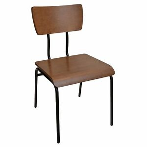 New Cooper Steel Chair With Contoured Plywood Seat And Back