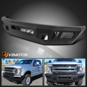 Fits Ford 2017 2020 F250 F350 Superduty Pickup Black Steel Front Bumper Upgrade