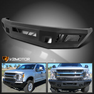 Fit Ford F250 F350 2017 2019 Superduty Pickup Black Steel Front Bumper Upgrade