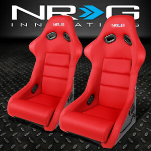 Red Nrg Fiberglass woven Fabric Sports Specs Bucket Racing Seat cushion