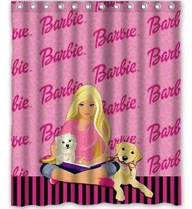 Barbie Clipart Shower Curtain Personalized Name