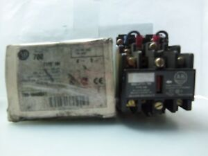 New Allen Bradley Type Nm 700 nm400a1 Latch Relay Series E 4 Pole Nib